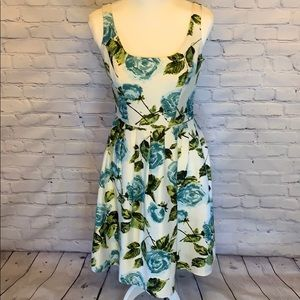 {Ann Taylor} Silk floral dress